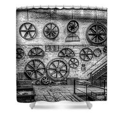 Dinorwig Quarry Workshop V2 Shower Curtain by Adrian Evans