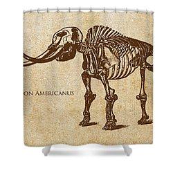 Dinosaur Mastodon Americanus Shower Curtain by Aged Pixel