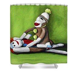 Dirty Socks Shower Curtain by Leah Saulnier The Painting Maniac