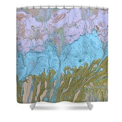 Disappearing In The Mist Shower Curtain by Donna Blackhall