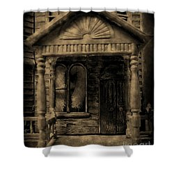 Do Not Enter Shower Curtain by John Malone