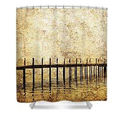 Dock Shower Curtain by Skip Nall