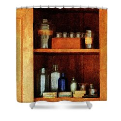 Doctor - Medicine Chest With Asthma Medication Shower Curtain by Susan Savad