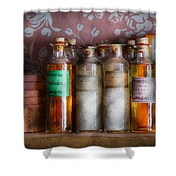 Doctor - Perfume - Soap And Cologne Shower Curtain by Mike Savad