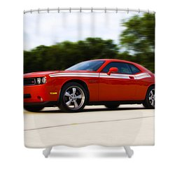 Dodge Challenger Shower Curtain by Bill Cannon