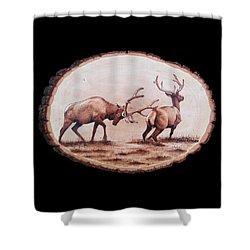 Dominance Shower Curtain by Minisa Robinson