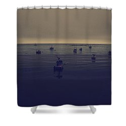 Done For The Day Shower Curtain by Laurie Search