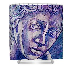 Don't Blink Shower Curtain by D Renee Wilson