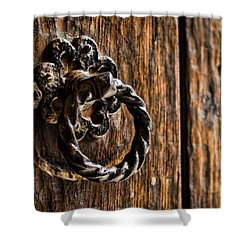 Door Knocker Shower Curtain by Heather Applegate