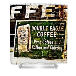 Double Eagle Coffee Shower Curtain by Scott Pellegrin