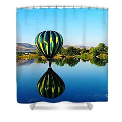Double Touchdown  Shower Curtain by Jeff Swan