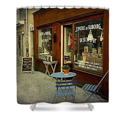 Douce France - Annecy Shower Curtain by Barbara Orenya