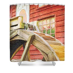 Down By The Old Mill Shower Curtain by Jeff Kolker