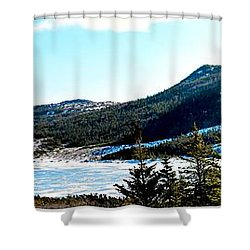 Down In The Valley Triptych Shower Curtain by Barbara Griffin