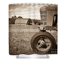 Down On The Farm Shower Curtain by Edward Fielding