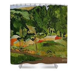 Down The Road Shower Curtain by Allan P Friedlander