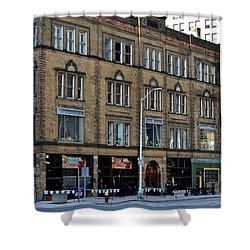 Downtown Detroit Shower Curtain by Frozen in Time Fine Art Photography