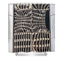 Downtown Reflection Shower Curtain by Kate Brown