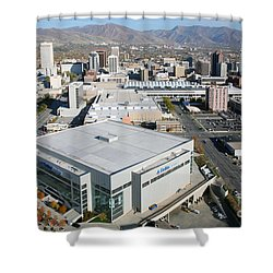 Downtown Salt Lake City Shower Curtain by Bill Cobb