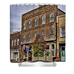 Dowtown General Store Shower Curtain by Heather Applegate