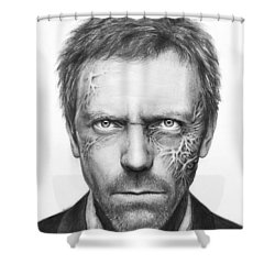 Dr. Gregory House - House Md Shower Curtain by Olga Shvartsur