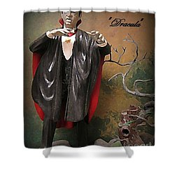 Dracula Model Kit Shower Curtain by John Malone