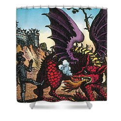 Dragon Of Wantley, 16th Century Shower Curtain by Photo Researchers