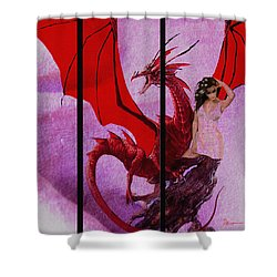 Dragon Power-featured In Comfortable Art Group Shower Curtain by EricaMaxine  Price