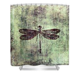 Dragonfly Shower Curtain by Priska Wettstein