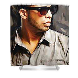 Drake Artwork 2 Shower Curtain by Sheraz A