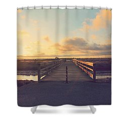 Drawing Nearer Shower Curtain by Laurie Search