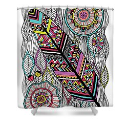 Dream Feather Shower Curtain by Susan Claire