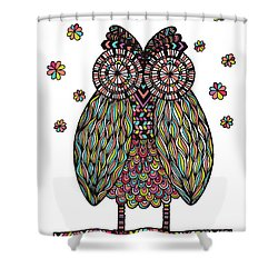 Dream Owl Shower Curtain by Susan Claire