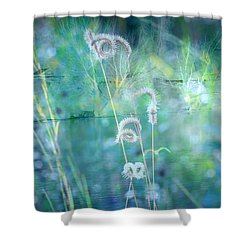Dreaming In Blue Shower Curtain by Carol Groenen