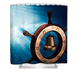 Dreaming Of The High Seas 1 Shower Curtain by Alexander Senin