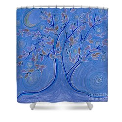 Dreaming Tree By Jrr Shower Curtain by First Star Art