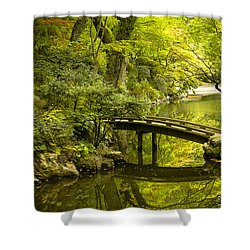 Dreamy Japanese Garden Shower Curtain by Sebastian Musial