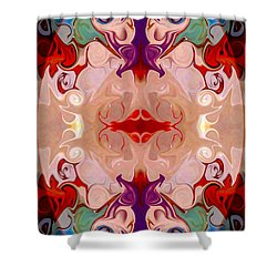 Drenched In Awareness Abstract Healing Artwork By Omaste Witkows Shower Curtain by Omaste Witkowski