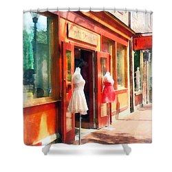 Dress Shop Fells Point Md Shower Curtain by Susan Savad
