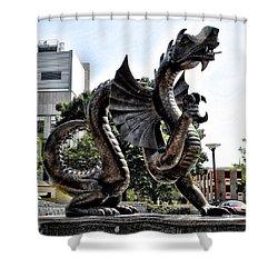 Drexel University Dragon Shower Curtain by Bill Cannon