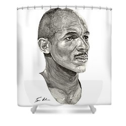 Drexler Shower Curtain by Tamir Barkan