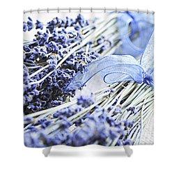 Dried Lavender Shower Curtain by Elena Elisseeva