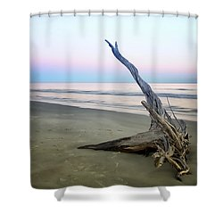 Driftwood At Dusk Shower Curtain by Phill Doherty
