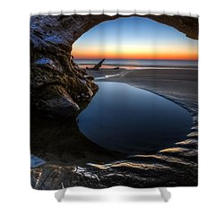 Driftwood Pools Shower Curtain by Debra and Dave Vanderlaan
