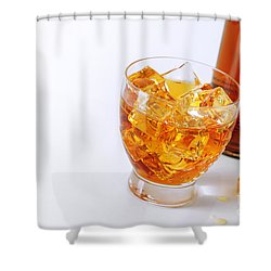 Drink On The Rocks Shower Curtain by Carlos Caetano