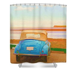 Drive To The Shore Shower Curtain by Edward Fielding