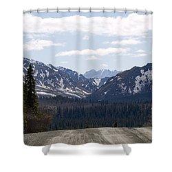 Drop Off Shower Curtain by Tara Lynn