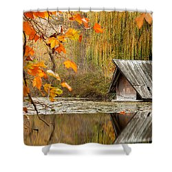 Duck's House Shower Curtain by Evgeni Dinev