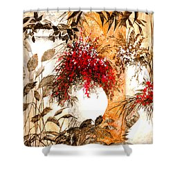 Due Bianca Shower Curtain by Guido Borelli