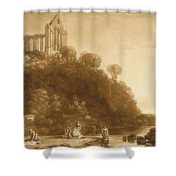 Dunblane Abbey Shower Curtain by Joseph Mallord William Turner